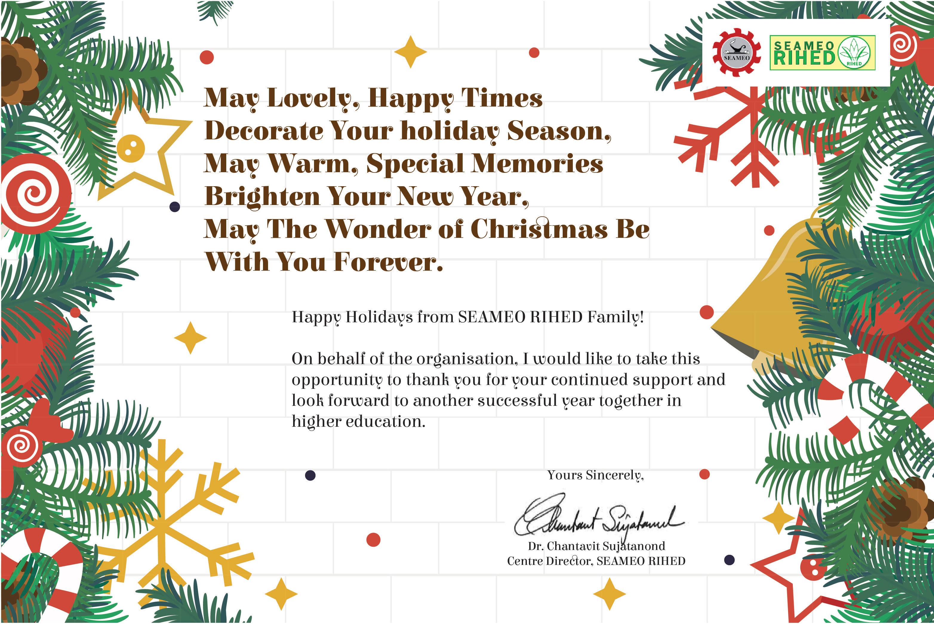 Holiday greetings from seameo rihed seameo rihed holiday greetings from seameo rihed kristyandbryce Choice Image